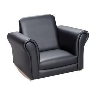 Gift Mark Home Kids Children Adult Black Upholstered Rocking Chair