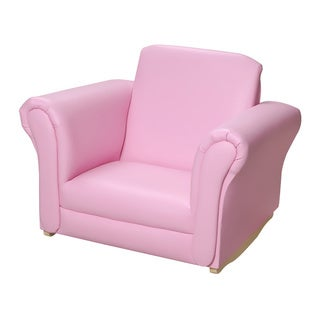 Gift Mark Home Kids Pink Upholstered Rocking Chair