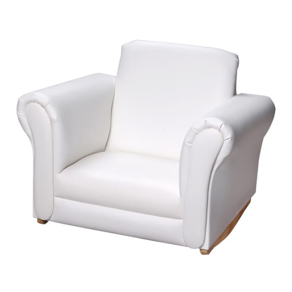 Shop Gift Mark Home White Upholstered Rocking Chair Free