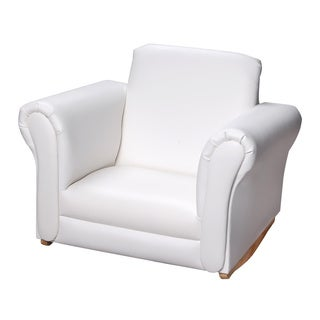 Gift Mark Home White Upholstered Rocking Chair