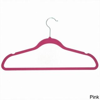 Achim Velvet Anti-Slip Hangers (Pack of 10) (Option: Pink)