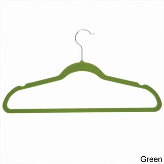 Achim Velvet Anti-Slip Hangers (Pack of 10) (Option: Green)