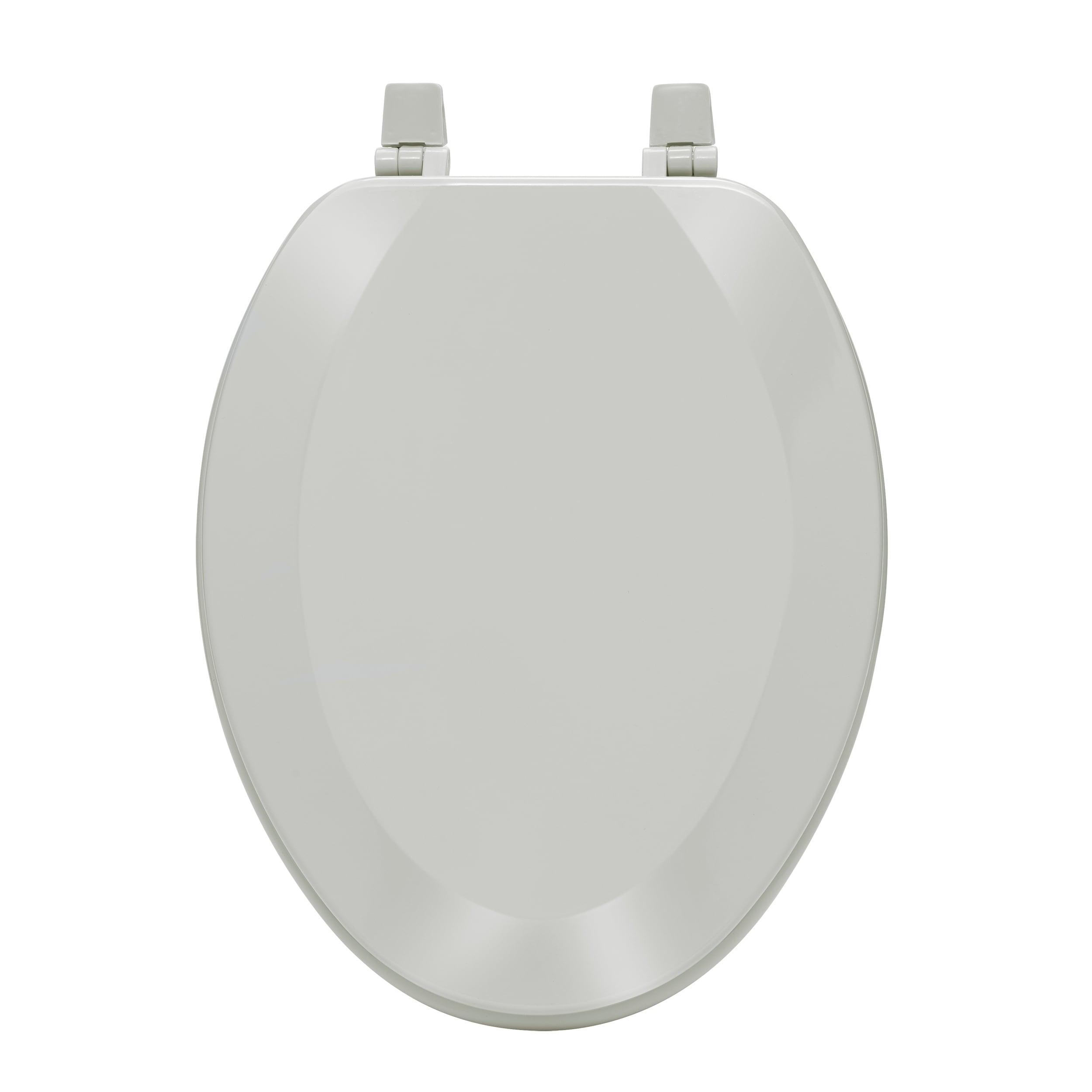 Fantasia 19 Inch White Soft Elongated Vinyl Toilet Seat