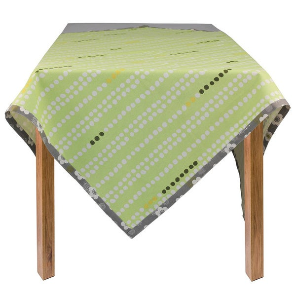 Organic Cotton Green Dots Rectangle Tablecloth 60 x 84