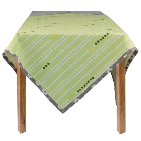 Organic Cotton Green Dots Rectangle Tablecloth 60 x 84