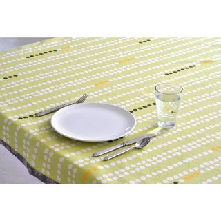 Organic Cotton Green Dots Square Tablecloth 60 x 60