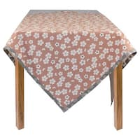 Organic Cotton Flowers Rectangle Tablecloth 60 x 84
