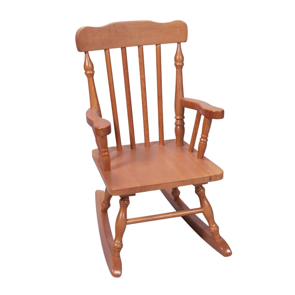 GiftMark Home Kids Resting Spindle Honey Rocking Chair (C...