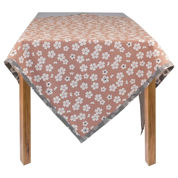 Organic Cotton Flowers Square Tablecloth 60 x 60
