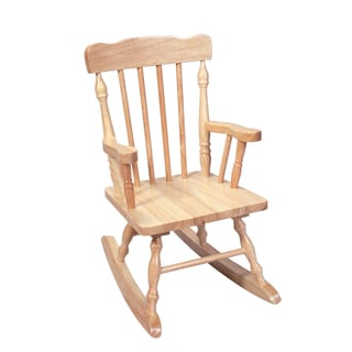 Gift Mark Home Kids Children Resting Spindle Natural Rocking Chair