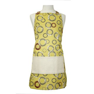 Kid's Yellow Novelty Circles Organic Cotton Butcher Apron