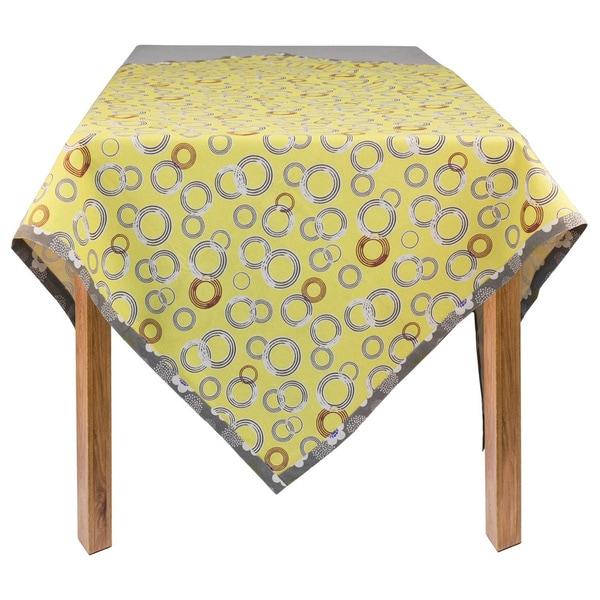 Organic Cotton Circles Rectangle Tablecloth 60 X 84