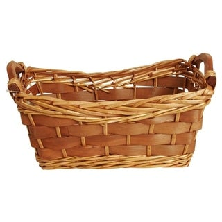 Wald Imports 12-inch Carved Willow Basket (Set of 2)