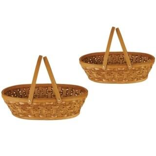 Wald Imports 15-inch Woodchip Basket (Set of 2)