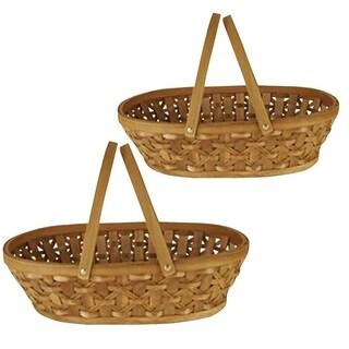 Wald Imports 17-inch Woodchip Basket (Set of 2)
