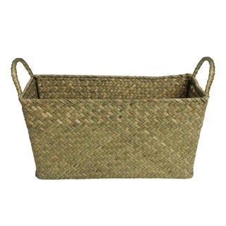 Wald Imports Large Seagrass and Reed Basket (Set of 2)
