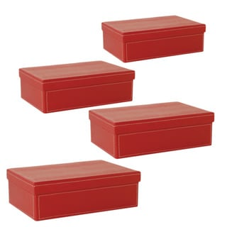 Wald Imports 95-inch Red Paperboard Box (Set of 4)