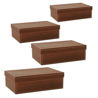 Wald Imports 95-inch Brown Paperboard Box (Set of 4)