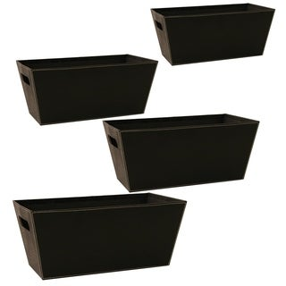Wald Imports 13-inch Black Paperboard Tote (Set of 4)