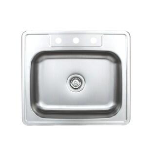 Wells Sinkware 20-gauge Topmount Stainless Steel Single Bowl Kitchen Sink Package