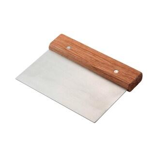 Wood Stainless Steel Pastry Dough Scraper