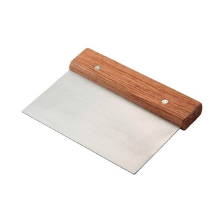 Wood Stainless Steel Pastry Dough Scraper