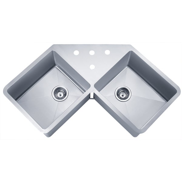 wells sinkware handcrafted butterfly undermount double bowl stainless steel - Kitchen Sinks For Sale