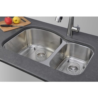 Wells Sinkware Double Bowl Undermount Stainless Steel Kitchen Sink