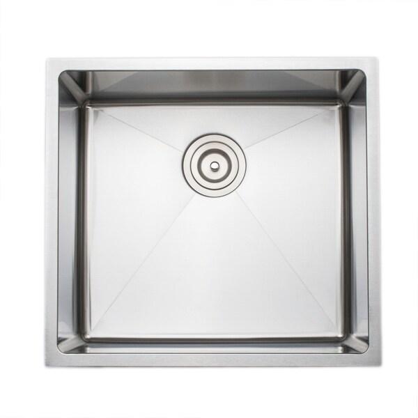 Wells Sinkware Chef's Collection 21-inch 16-gauge Undermount Single Bowl Stainless Steel Kitchen Sink