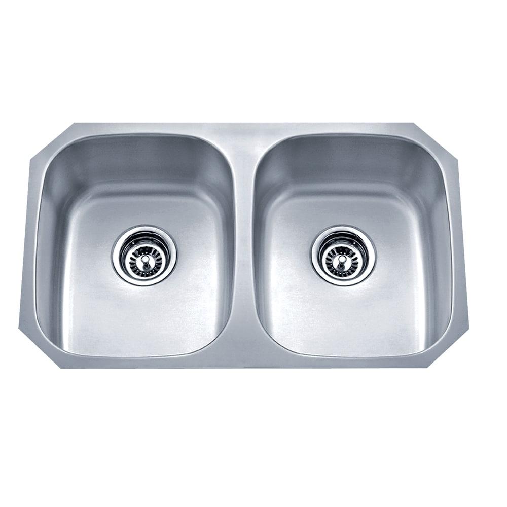 Wells Sinkware Undermount Double Bowl Stainless Steel Kitchen Sink. Opens flyout.