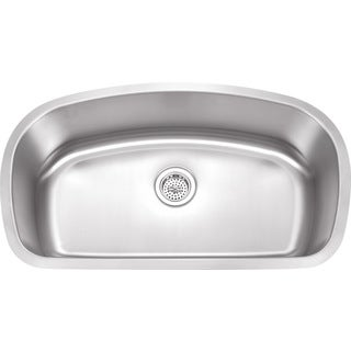 Wells Sinkware Undermount Single Bowl Stainless Steel Kitchen Sink