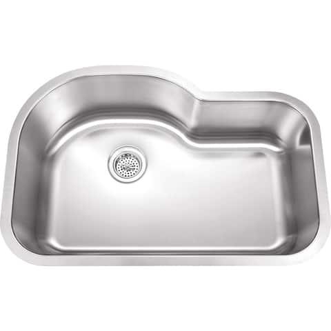 Wells Sinkware SSU3221-9 18-gauge Undermount Single-bowl Stainless Steel Kitchen Sink - Sink Only