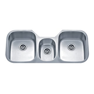 Wells Sinkware Undermount Triple-bowl Stainless Steel Kitchen Sink