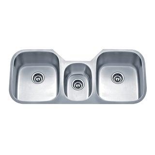 Wells Sinkware Undermount Triple Bowl Stainless Steel Kitchen Sink
