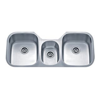 Triple Bowl Kitchen Sinks Triple bowl kitchen sinks for less overstock wells sinkware undermount triple bowl stainless steel kitchen sink workwithnaturefo