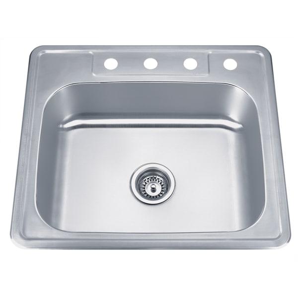 Top Mount Stainless Steel Kitchen Sinks wells sinkware topmount single bowl stainless steel kitchen sink