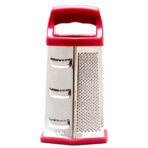 Cook's Corner Hex 6-sided Red Stainless Steel Multi-purpose Grater