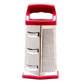 Cook's Corner Hex 6-sided Stainless Steel Red Multi-purpose Grater|https://ak1.ostkcdn.com/images/products/9305414/P16466677.jpg?impolicy=medium
