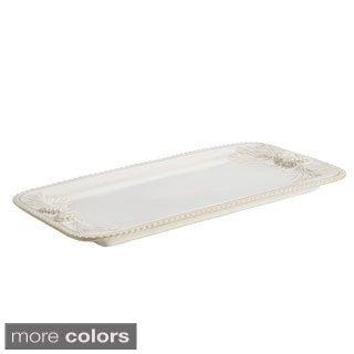 BonJour Dinnerware Sierra Pine Stoneware Rectangular Platter