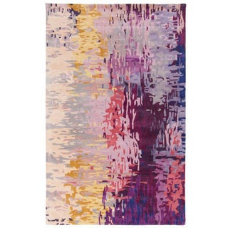 Hand-tufted Lucas Abstract New Zealand Wool Area Rug (3'3 x 5'3)