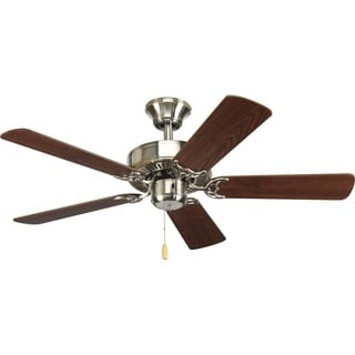 Progress Lighting Brushed Nickel AirPro Builder 5-blade Brushed Nickel Ceiling Fan