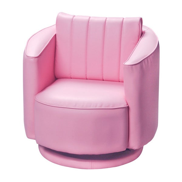 Gift Mark Home Kids Upholstered Swivel Chair Pink Free