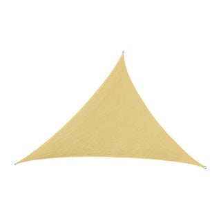 Cool Area Oversized Triangle Sun Shade Sail (16'5) with Stainless Steel Hardware Kit