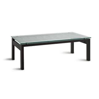 Slate Glass Steel Coffee Table 10751194 Overstock Com