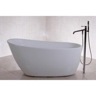 Fusion Freestanding 59 Inch Acrylic Bathtub