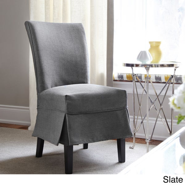 QuickCover Bayside Dining Chair Relaxed Fit Slipcover with Buttons ...