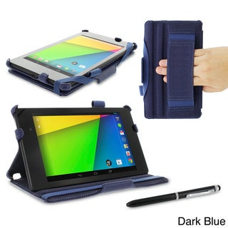 rooCASE Slim Fit Folio Case Cover with Stylus for Google Nexus 7 FHD 2013 (2nd Generation)