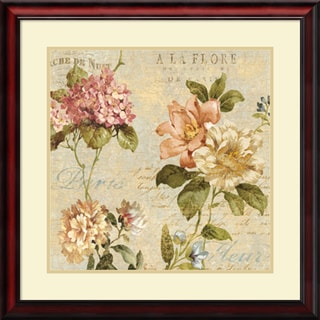 Deborah Devellier 'Fleur Paris I' Framed Art Print 28 x 28-inch