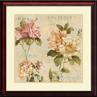 Framed Art Print 'Fleur Paris I' by Deborah Devellier 28 x 28-inch