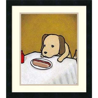 Luke Chueh 'Revenge is a Dish (Dog)' Framed Art Print 18 x 22-inch